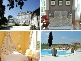 Chambres d'hôtes de charme , Château de Carbonneau, pessac sur dordogne 33890