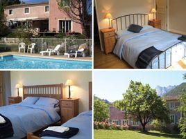 Chambres d'hôtes de charme , La Maison Rose, saillans 26340