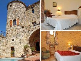 Chambres d'hôtes de charme , Château de Bessas, bessas 07150
